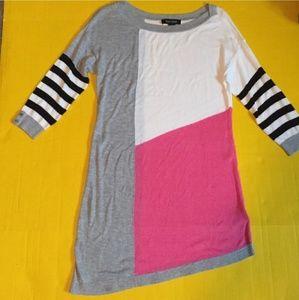 White House Black Market Color Block Sweater Dress